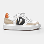 SNEAKER DIAMOND - White, Off White, Preto & Turquesa